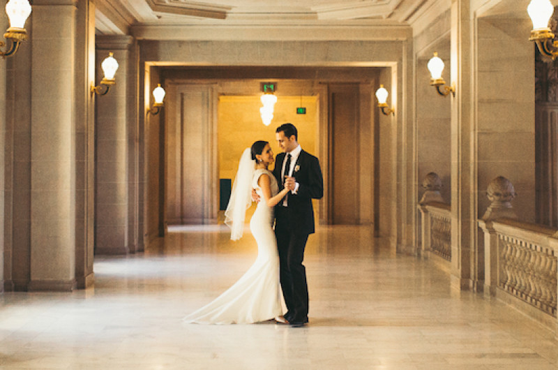 Image for Ballroom Dancers Kelly and Richard's Romantic City Hall Wedding