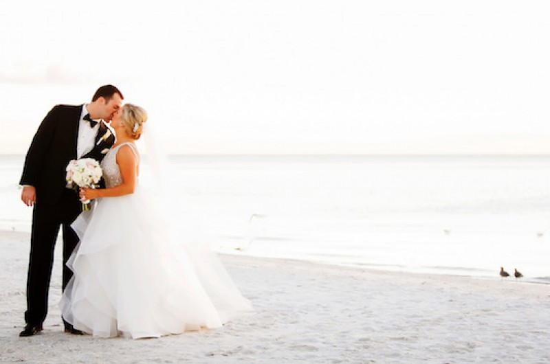 Image for Emily and Bret's Glamorous Beach Wedding