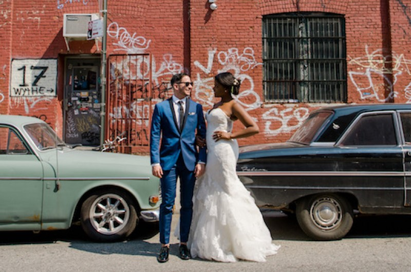 Image for Astin and J's Lush Romantic Wedding at Brooklyn's MyMoon