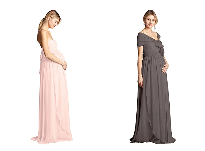 A peek into vow to be chic 39 s new bridesmaid store love for Designer maternity wedding dresses