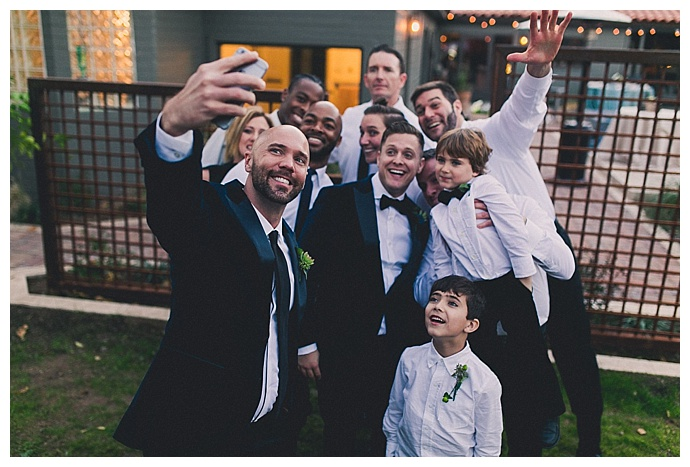 backyard-wedding-party-selfie-mike-olbinski-photography