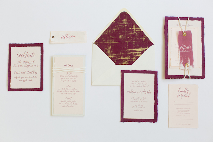 marsala-and-gold-stationery-suite