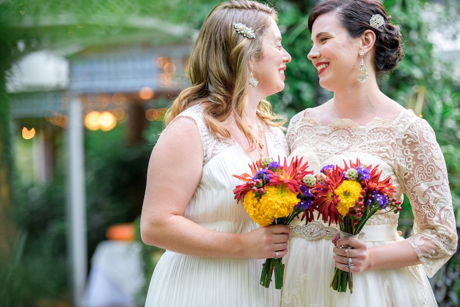 Brightly Colored Bridal Bouquets
