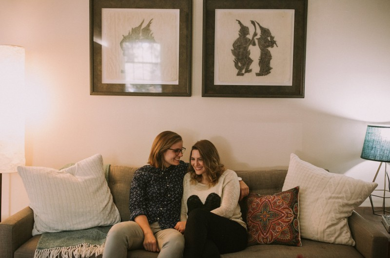 Image for Emma and Katie's Lifestyle Engagement Session in Downtown Atlanta
