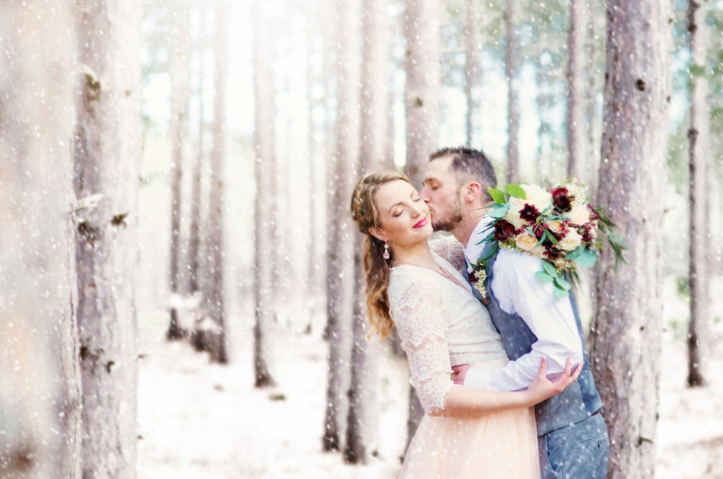 Image for Rustic and Romantic Mountaintop Winter Wedding Inspiration