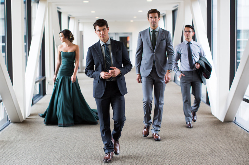 Image for An Elegant and Masculine Hunter Green and Gold Styled Shoot
