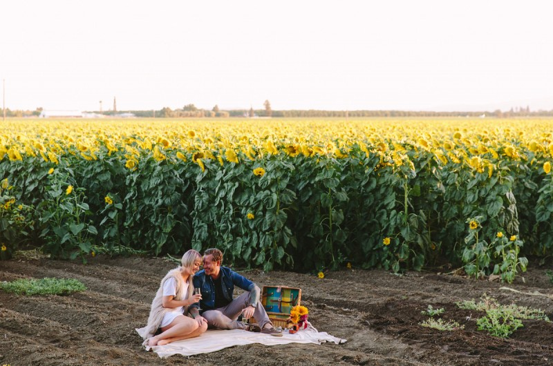 Image for Lisa and Shane's Emotional Sunflower Proposal at Sunset