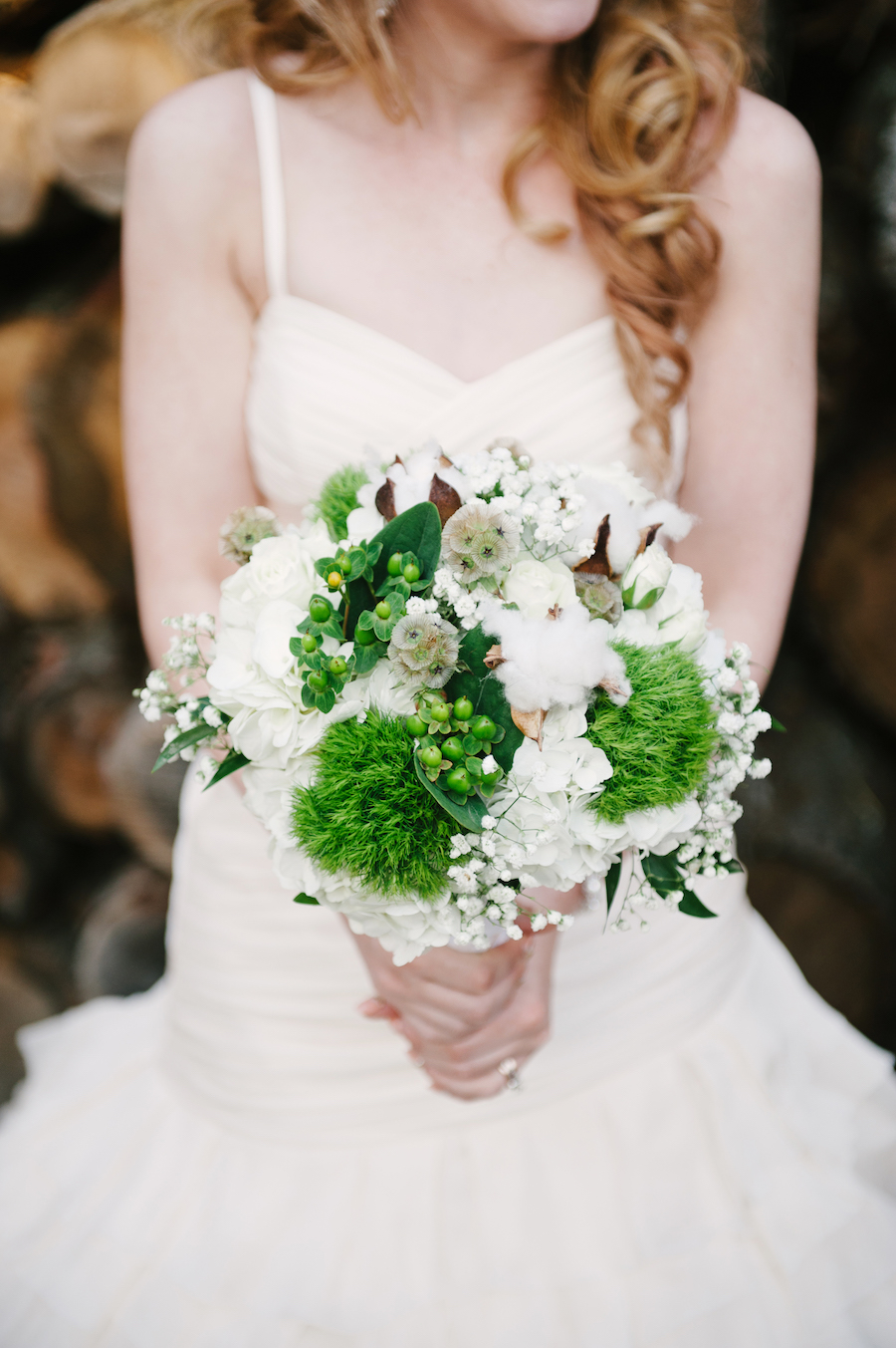 Moss Bridal Bouquet