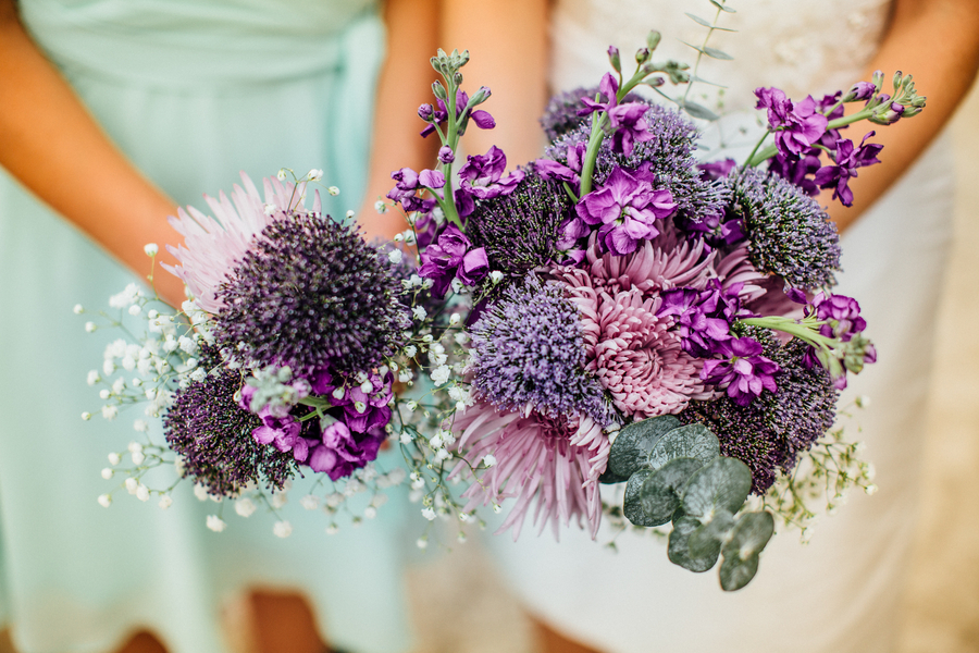 Monochromatic Purple Bridal Bouquet