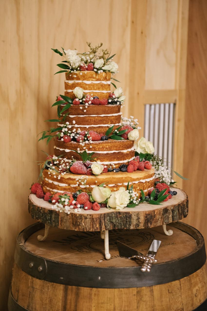 Naked Wedding Cake with Fruit