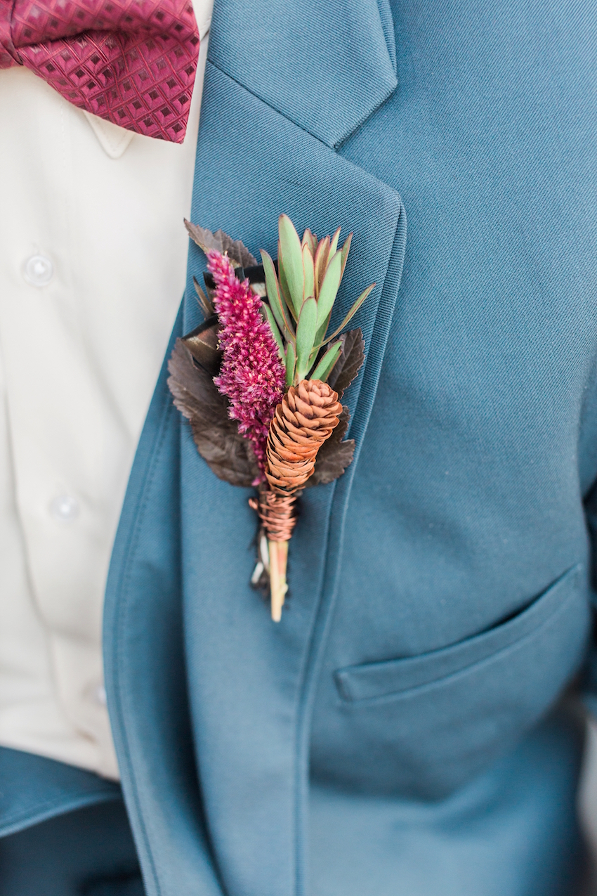Pinecone Boutonniere