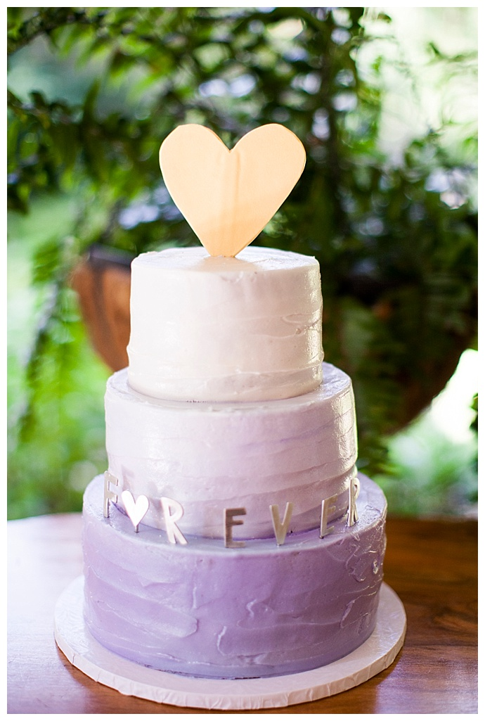Purple Ombre Wedding Cake