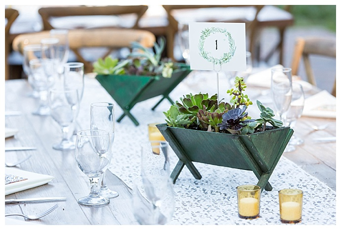 rustic-succulent-planters-table-numbers-maya-myers-photography