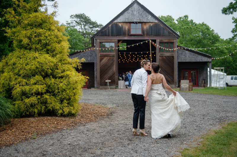 Image for Beth and Sarah's Rustic and Rainy Wedding on Martha's Vineyard