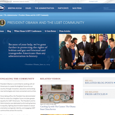 LGBT Page Removed from White House Website