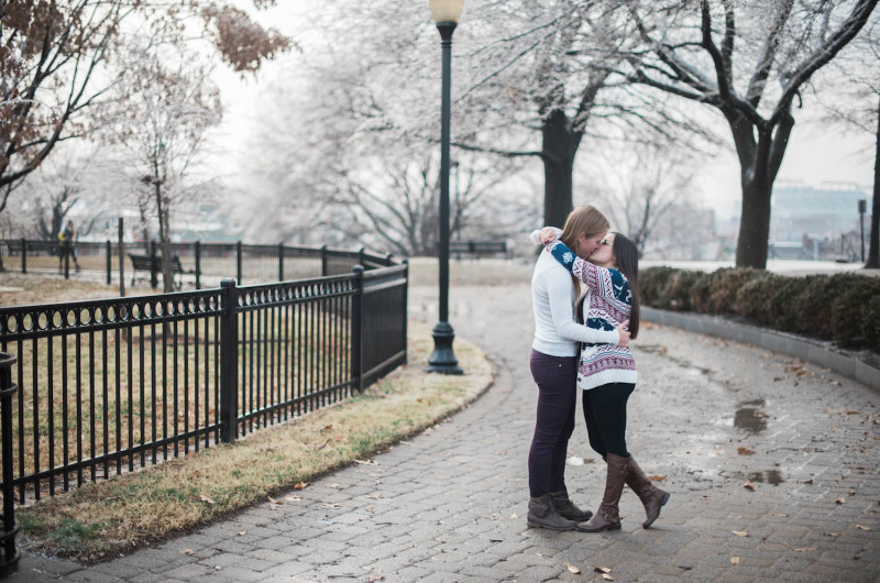 Image for Megan and Jenna's Emotional Winter Proposal on Federal Hill