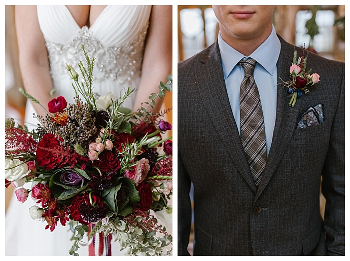 rustic-red-bouquet-boutonniere-tiffany-chapman-photography