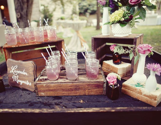 wedding-drink-station-lavender-margarita-bar