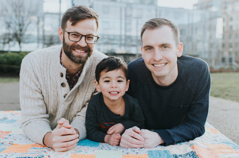 Image for Adam and Brad's Affectionate Family Engagement Session in the Park