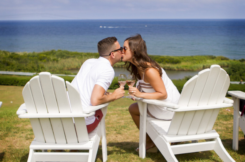 Image for Jim and Kristina's Beachside Proposal on Block Island
