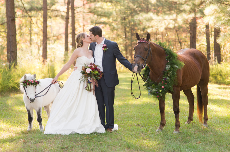 colorful equestrian wedding inspiration with horses love