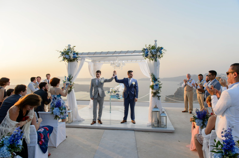 Image for Dimitri and Mariano's Breathtaking Destination Wedding in Santorini