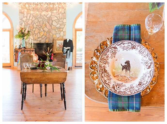gold-blue-table-settings-megan-travis-photography