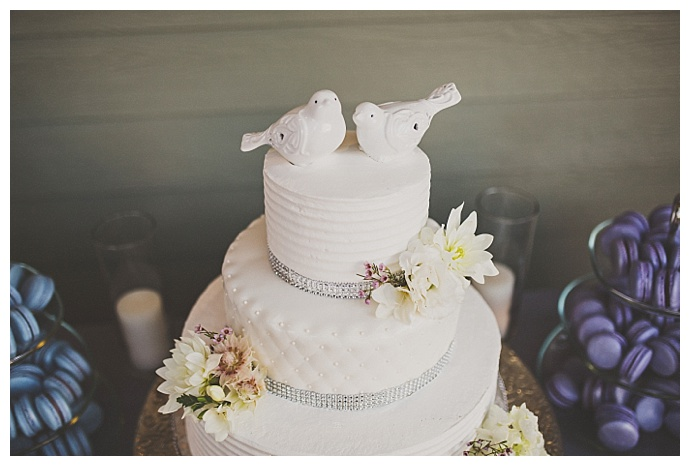 white-wedding-cake-bird-cake-toppers-ryan-horban-photography