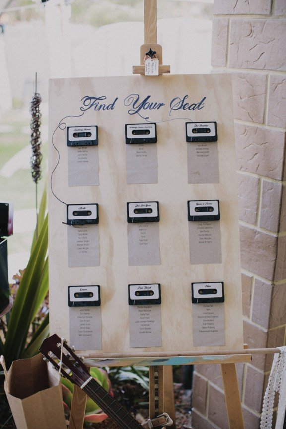 cassette-wedding-seating-chart