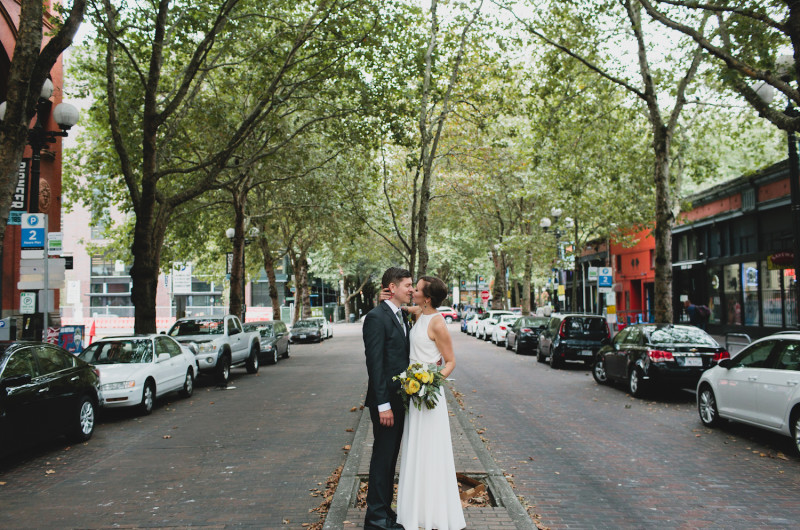 Image for Taylor and Max's Summery Vegan Wedding in Seattle