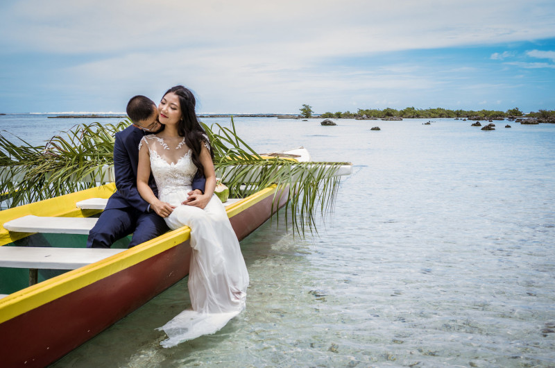 Image for Vicky and Ricky's Tropical Polynesian Wedding in Moorea