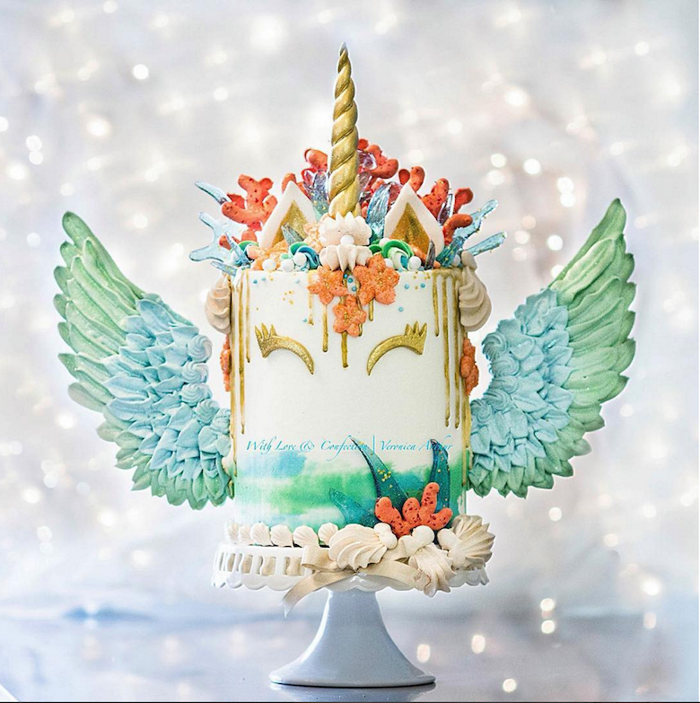 mermaid-unicorn-cake