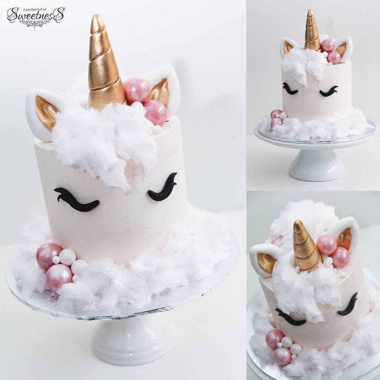 Unicorn Cake with Cotton Candy