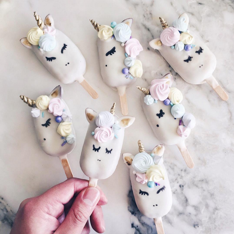 Unicorn Popsicles