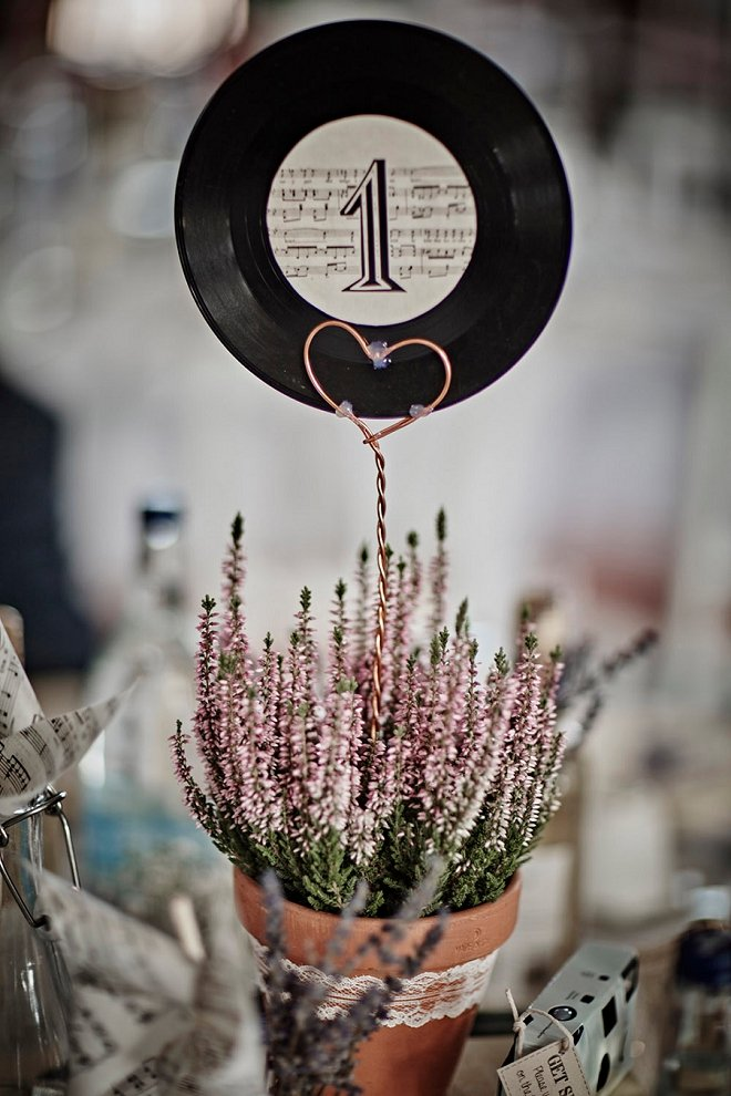 vinyl-record-table-number-wedding-centerpiece