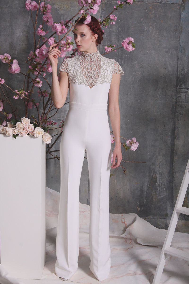 8 Stunning Pantsuits from Spring 2018 Bridal Fashion Week ...