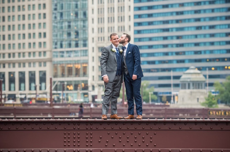 Image for Mike and Eli's Modern Chicago Wedding at The Ivy Room