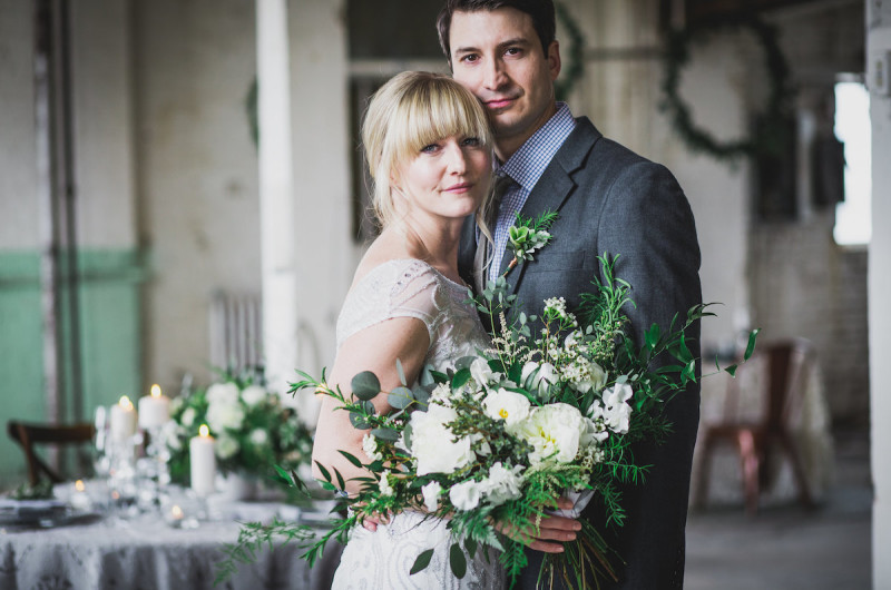 Image for Timeless Green and Gray Wedding Inspiration with Lush Details