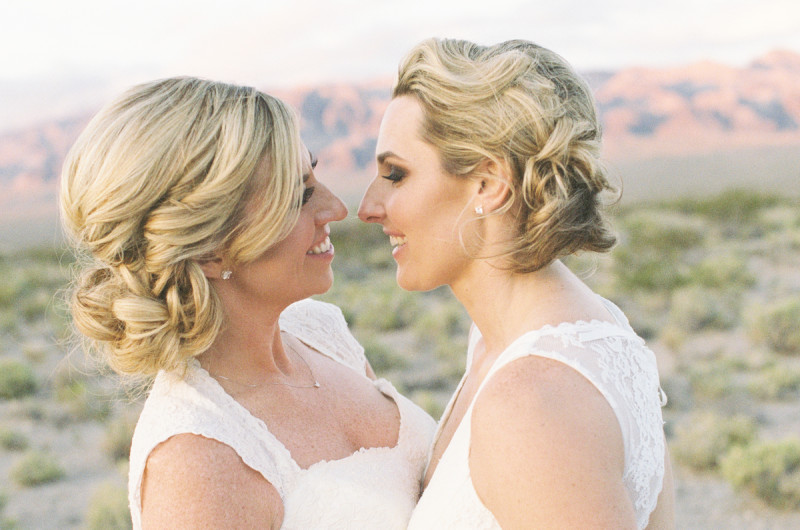 Image for Holly and Lynne's Serene, Private Elopement in the Nevada Desert