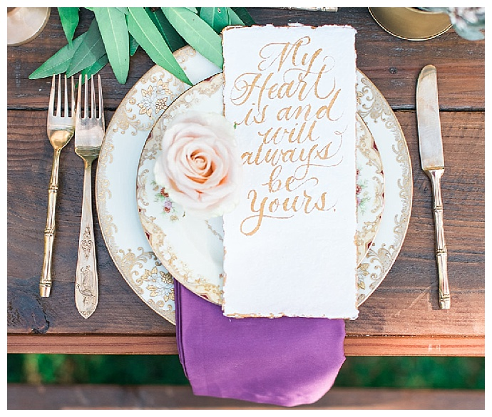 gold-vintage-place-settings-carissa-woo-photography