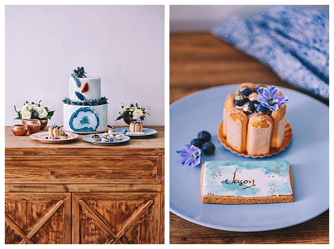 blue-copper-dessert-table-geode-wedding-cake-george-pahountis-photographer
