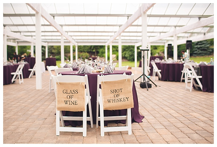 burlap-wedding-sweetheart-table-chair-signs-jacqie-q-photography
