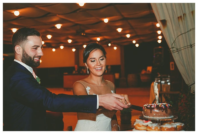donut-wedding-cake-cutting-ceremony-ryan-horban-photography