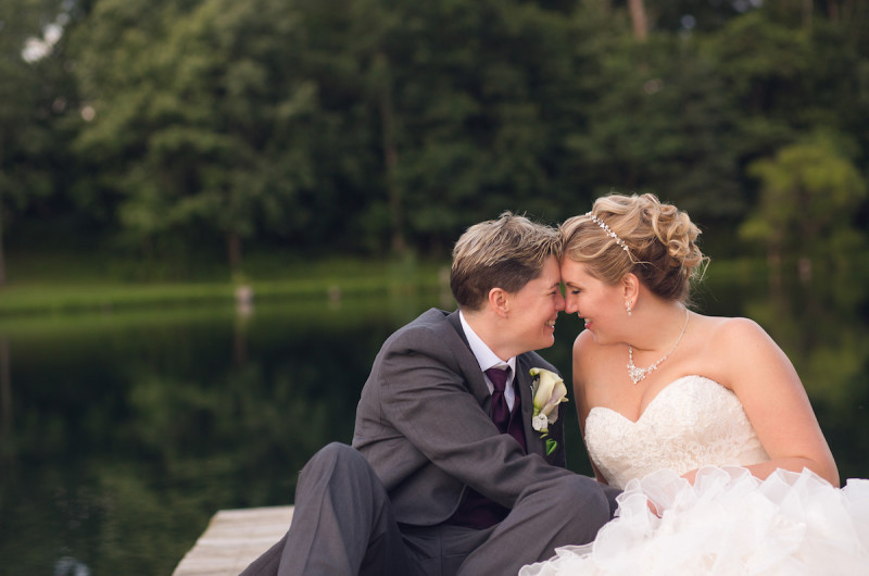 Image for Melissa and Ellen's Rustic Maryland Wedding