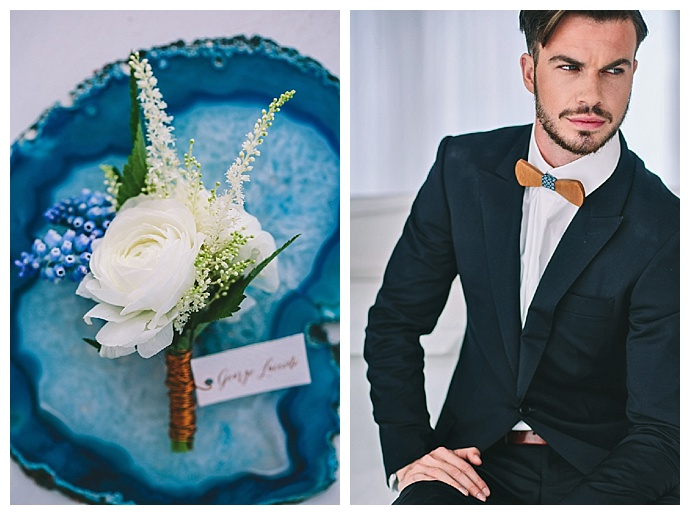 white-ranunculus-wedding-boutonniere-wooden-bow-tie-george-pahountis-photographer