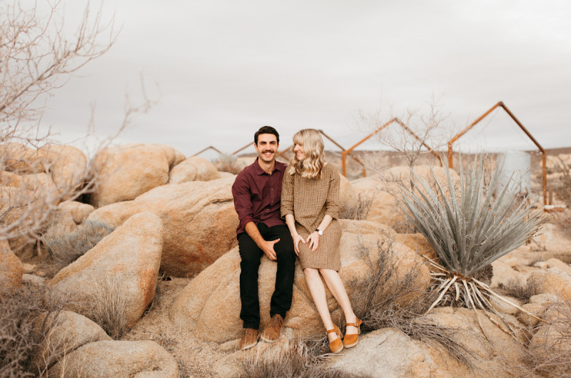 Image for Tiffany and Aaron's Sentimental Joshua Tree Proposal