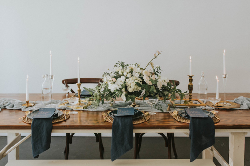 Image for A Vintage Wedding Inspiration Shoot With Navy and Gold Details