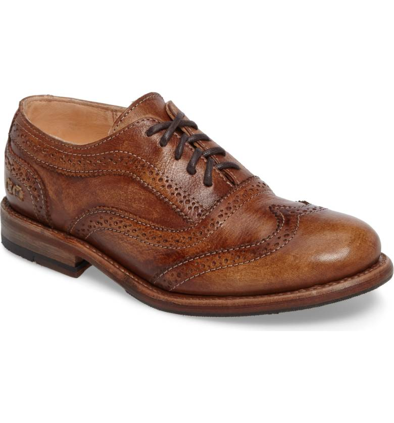 brown-leather-womens-oxford-wedding-shoes