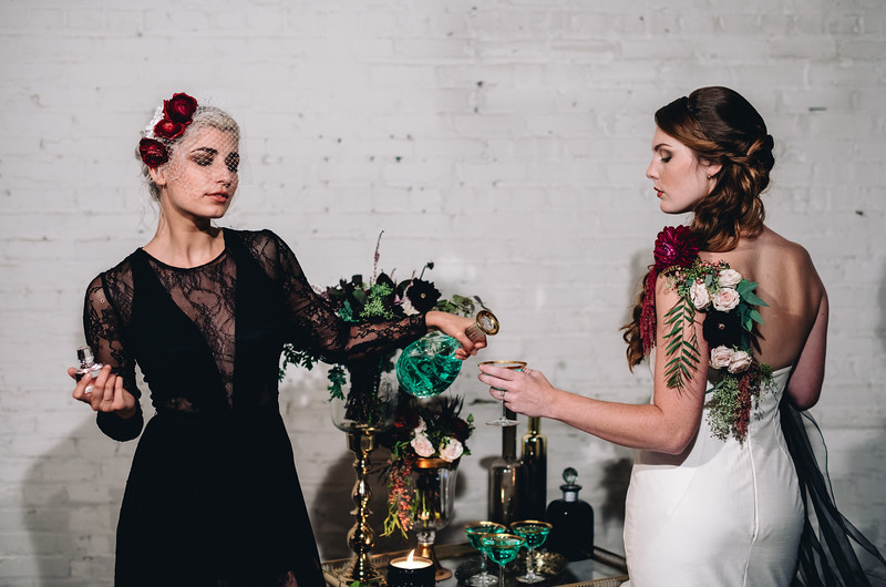 Image for Wicked Romance: Sultry Velvet and Burgundy Wedding Inspiration