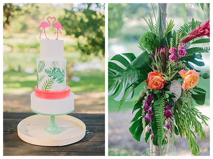 monstera-leaf-cake-decoration-paige-vaughn-photography